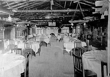 Fred Harvey Collection Exhibit El Tovar Hotel Interior The Dining Room